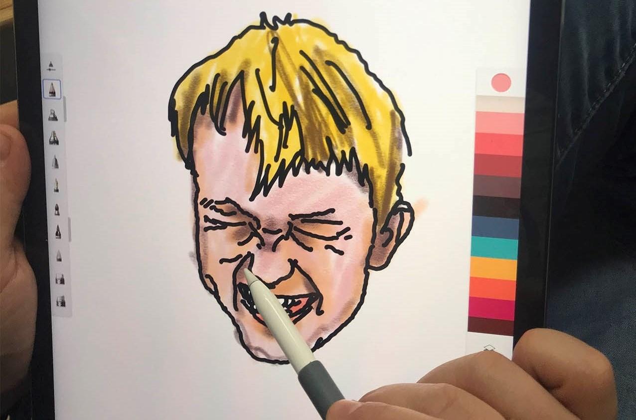 projektowanie graficzne – rysowanie na tablecie